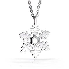 Bling Jewelry Petite 925 Sterling Silver Childrens Snowflake Necklace 16in