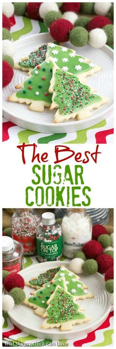 Best Sugar Cookies   Perfect cut-out cookies for all holidays and celebrations #holidaycookies #christmasbaking #sugarcookies