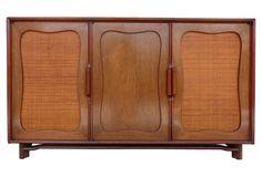 Mahogony Sideboard w/ Woven Cane Doors