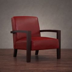 Shop For Roadster Burnt Red Leather Lounge Chair And More For Everyday  Discount Prices At Overstock