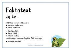 fakta mål-page-0 Teacher Education, School Teacher, Teaching Genre, Learn Swedish, Future Jobs, Study Tips, Preschool, Knowledge, Language