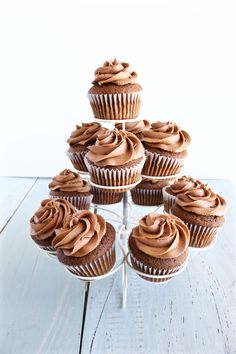 Delicious chocolate Nutella cupcakes bursting with yummy hazelnut and chocolate flavors. These cupcakes are made entirely from scratch. Scrumptious!