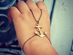 anchor slave bracelet, nautical jewelry | alapopjewelry - Jewelry on ArtFire