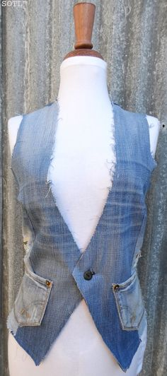Vest REinvented using favourite jeans.