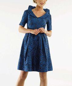 Look at this #zulilyfind! Sapphire Floral A-Line Dress - Women & Plus by Bigio Collection #zulilyfinds