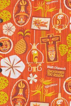 SHAG's signature is embroidered on the left sleeve. armpit-to-armpit: about Vintage Tiki, Vintage Hawaiian, Vintage Art, Hawaiian Men, Hawaiian Print, Vintage Travel, Tiki Art, Tiki Tiki, Disney Enchanted