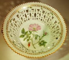 Royal Copenhagen Flora Danica Porcelain Large Round Fruit Basket