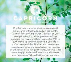 September horoscope 2013: Capricorn