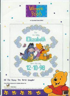 Winnie the Pooh The Hunny Pot Birth Sampler
