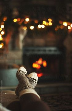 Theres nothing like kicking your feet back after a long day with your favourite book by the fire - bliss!