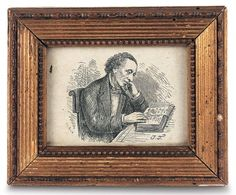 Antique Dolls and Toys of LEGO - Session 3: 839 Early Miniature Pencil Sketch of Hans Christian Anderson