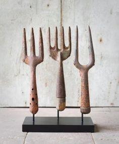 vintage_garden_tool_set, loVe this displaY.