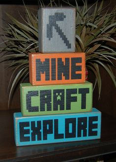 Check out our minecraft bedroom selection for the very best in unique or custom, handmade pieces from our shops. Minecraft Sign, Minecraft Room Decor, Easy Minecraft Houses, Minecraft Bedroom, Minecraft Crafts, Minecraft Furniture, Minecraft Buildings, Custom Woodworking, Woodworking Projects Plans