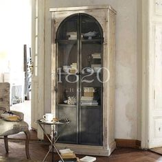 European exports of solid wood furniture French country / Antique LOFT mash industrial wind arches display bookcase