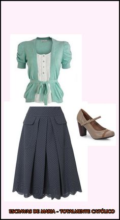 Such a cute, modest outfit! Definitely qualifies for LDS modesty and could easily be modified to be tzniut.