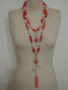 coral necklaces