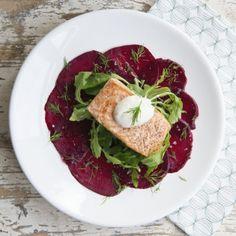 Saumon grillé et carpaccio de betterave - Dille & Kamille