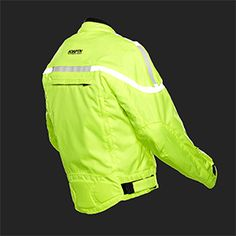 The GlowRider™ jacket integrates patented and patent pending Electro-Luminescent (EL) technology directly into the jacket. EL panels on the back & shoulders light up to increase nighttime visibility. Powered by a rechargeable lithium battery hidden in the sleeve.  Has zip-out quilt liner to keep you warm. When it's hot, remove the liner and open up the strategically placed air vent zippers. When it's wet, the waterproof outer shell will keep you dry.   $299.