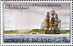 Norfolk Island 1981 Pitcairn Islanders Migration Fine Mint SG 258 Scott 277 Other European and British Commonwealth Stamps HERE!
