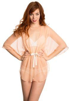 Vivian pink bed jacket by Angela Friedman