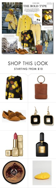 """""""The Bold Type..."""" by nannerl27forever ❤ liked on Polyvore featuring P.A.R.O.S.H., Simon Miller, Aquazzura, Guerlain, My Accessories and Elizabeth and James"""