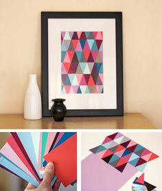 Paint swatches are great for creating decorations. The best part, they are free