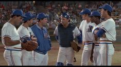 Larry: Excuse me, what the hell's going on out here?  Crash: Nuke's scared because his eyelids are jammed and his old man's here. We need a live rooster to take the curse off Jose's glove and nobody seems to know what to get Millie or Jimmy for their wedding. We're dealing with a lot  Larry: Okay, well, uh candlesticks always make a nice gift, and uh, maybe you could find out where she's registered and maybe a place-setting or maybe a silverware pattern. Okay, let's get two! Go get 'em.