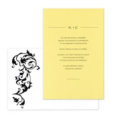 Divina Wedding Invitations  by Checkerboard