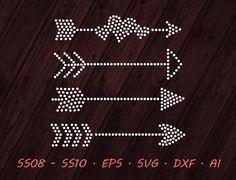 Items similar to Rhinestone Arrows Designs - SVG EPS DXF Ai Digital Template - Vector Clipart - Cricut - Silhouette Studio - Cutting File Vector Files on Etsy Rhinestone Transfers, Arrow Design, Vector Clipart, Xmas Crafts, Cricut, Clip Art, Templates, Silhouette Studio, Skating