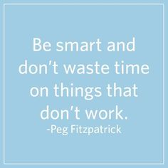 Great advice from @pegfitzpatrick!