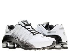 f52b1b57f9df Nike Shox NZ EU White Silver-Black Mens Running Shoes 501524-103