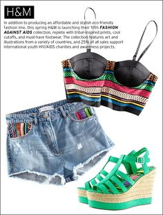 H & M's Fashion Against AIDS collection makes it chic to give back! I NEED this bustier top!!!