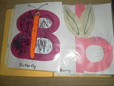 Capital B for butterfly and a lower case b for bunny.