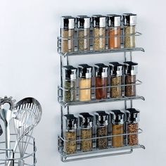 Chrome Wall Mount Spice Rack - Organize It All