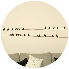 Birds on a wire wall sticker Decor Interior Design, Interior Decorating, Deco Stickers, Mural Wall Art, Deco Design, Decoration, Wall Sticker, Artsy, Home Decor