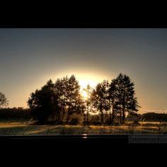 Fields in the sunset. Vasteras. Sweden 2016