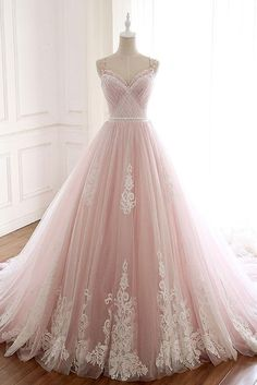 Fashion Tips Shoes Pink Spaghetti Straps Tulle Prom Dress with Lace Appliques A Line Formal Evening Party Dresses Okdresses.Fashion Tips Shoes Pink Spaghetti Straps Tulle Prom Dress with Lace Appliques A Line Formal Evening Party Dresses Okdresses Princess Prom Dresses, Quince Dresses, A Line Prom Dresses, Tulle Prom Dress, Quinceanera Dresses, Prom Party Dresses, Ball Dresses, Lace Dress, Evening Dresses