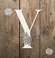 Floral Letter 'Y' SVG PDF Design Papercutting Vinyl