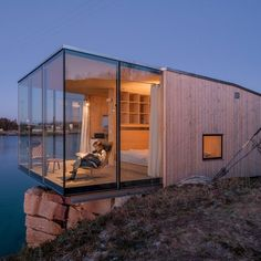 Dezeen has teamed up with online network Holidayarchitecture to give away five copies of a book featuring architecturally interesting places for holidaymakers to rent, including glass and timber cabins and a symmetrical concrete house. Cantilever Architecture, Amazing Architecture, Interior Architecture, Building Architecture, Interior Design, Architecture Details, Container Home Designs, Building A Container Home, Container House Plans