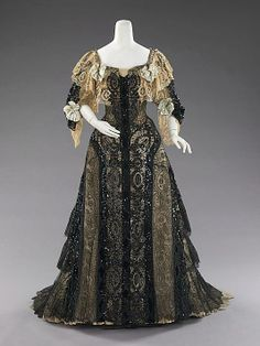 Evening Dress, 1895. American, Made of silk.