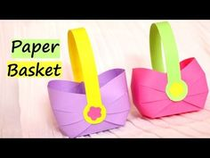 How to make a Paper Basket for Easter 2017 | Easy Paper Crafts - YouTube