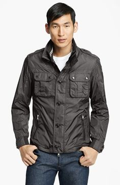$725, Charcoal Military Jacket: Moncler Mate Military Jacket. Sold by Nordstrom. Click for more info: https://lookastic.com/men/shop_items/82328/redirect