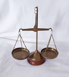 Excited to share this item from my #etsy shop: Vintage brass scale, Hanging scale, scale of justice, balance scale.