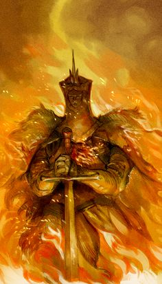 Ivory King Swathed in Fire by Barukurii on DeviantArt