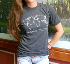 World Traveler? This is the only t-shirt youll ever need. Actually, one shirt could start to smell a little ripe. You might want to buy two.