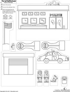 Print and construct a Pop-Up Police Station!
