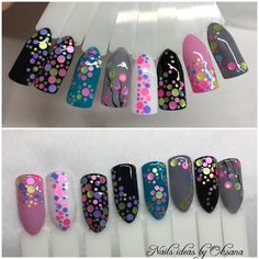 Your Professional Pin Shellac Nails, Matte Nails, Pink Nails, Dot Nail Art, Polka Dot Nails, Nail Swag, Nail Art Modele, Confetti Nails, Gel Nail Art Designs