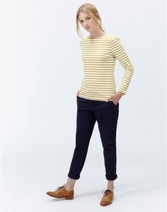 Joules Harbour Womens Jersey Round Neck Top Shirt 100% Cotton - Caramel Stripe | eBay Shirts & Tops, Tom Joule, Simple Style, My Style, Breton Stripes, Joules Uk, Marilyn Monroe, Toms, Stylish