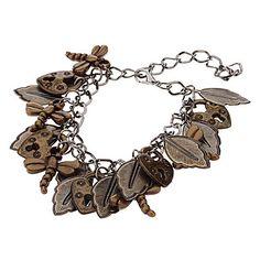 Coração Combinação Dragonfly de pulseira Retro – USD $ 2.99