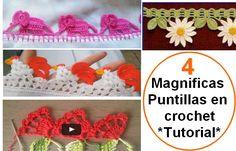 4 Magníficas Puntillas en Crochet - Tutorial en vídeo